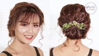 Mẹo Làm Đẹp - Hướng Dẫn Tết tóc xoăn búi thấp đơn giản | Phụ Nữ và Gia Đình