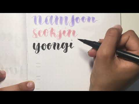 Satisfying Calligraphy: BTS Names