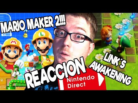 ¡¡MARIO MAKER 2!! ¡¡ZELDA LINK´S AWAKENING!! ¡¡TETRIS FORTNITE!! - REACCION EPICA AL NINTENDO DIRECT