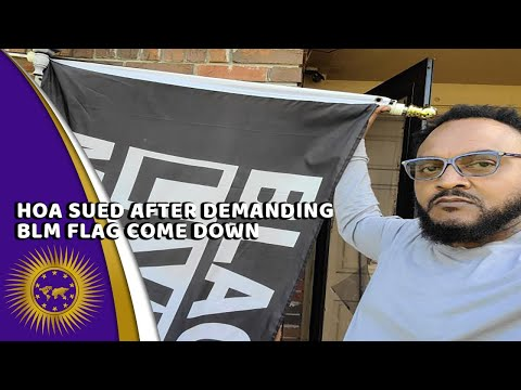 Antoine Mickle Sues HOA For Asking He Remove His BLM Sign But Allowed Trump & Thin Blue Line Fla
