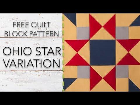 FREE Quilt Block Pattern: Ohio Star Variation