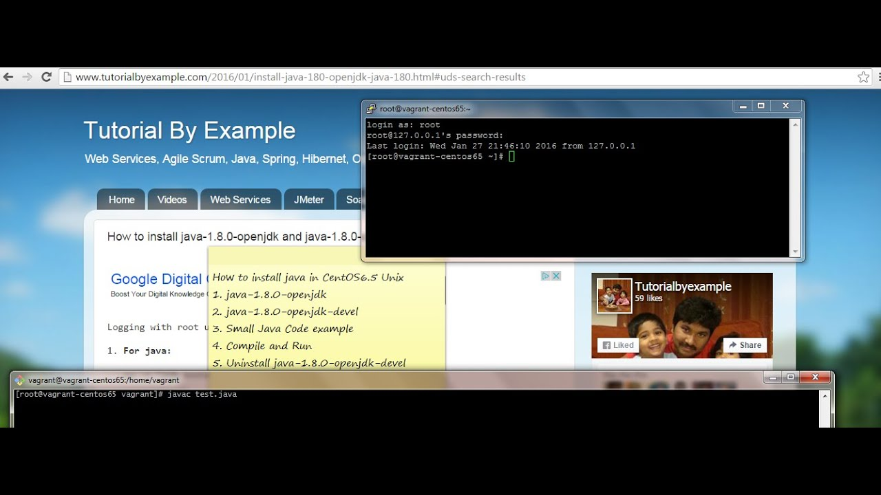 Tutorial By Example: How to install java-1 8 0-openjdk and java-1 8