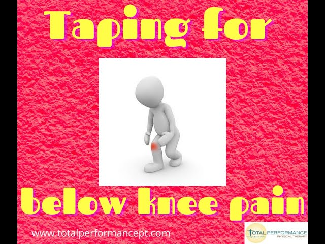 Taping for below knee pain
