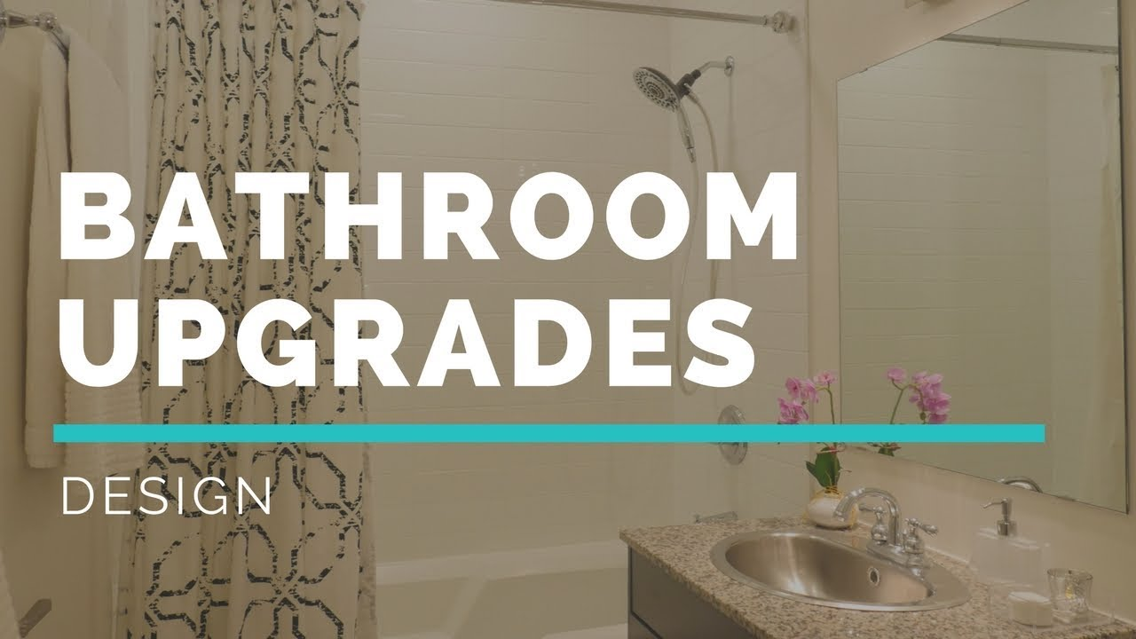 BUDGET BATHROOM UPGRADES Small Space Makeover YouTube - Bathroom upgrades on a budget