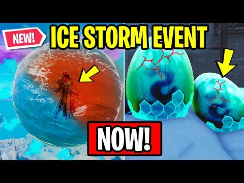 FORTNITE ICE STORM EVENT HAPPENING RIGHT NOW! (Fortnite: Battle Royale)