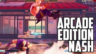 IS THAT AN FADC?! SFV: AE Nash Combos and New Stuff