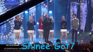 Red Velvet-ice cream cake(EXO,BTS,Got7,SuJu,Shinee dance)