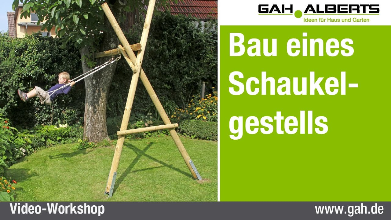 gah workshop ein schaukelgestell aus holz bauen youtube. Black Bedroom Furniture Sets. Home Design Ideas