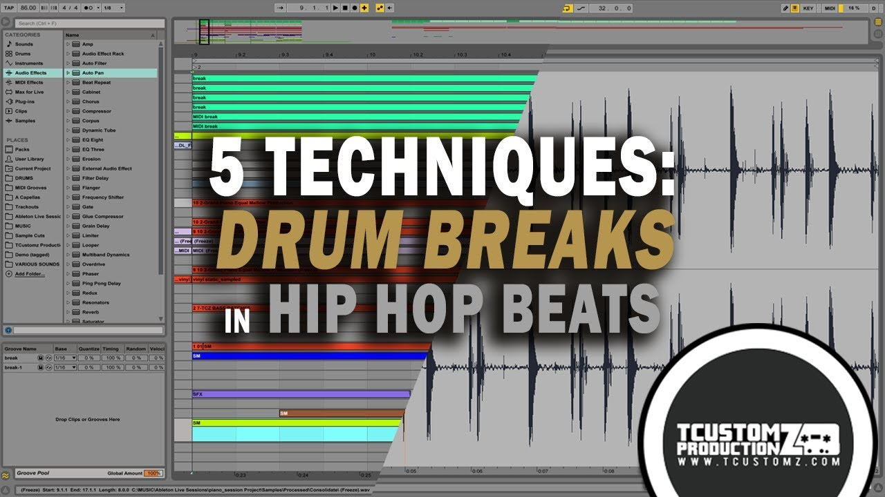 5 tips how to use drum breaks in hip hop beats tutorial download free drum breaks ableton. Black Bedroom Furniture Sets. Home Design Ideas