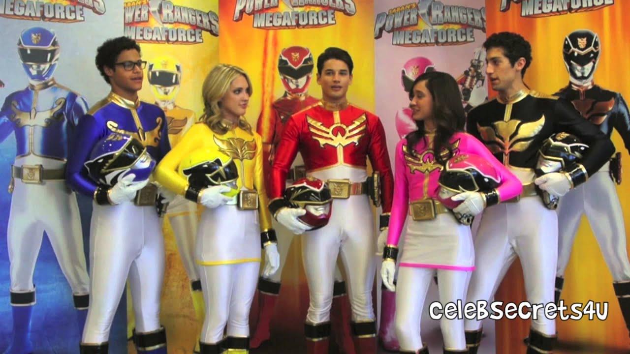 Meet the cast of power rangers megaforce youtube - Moto power rangers megaforce ...