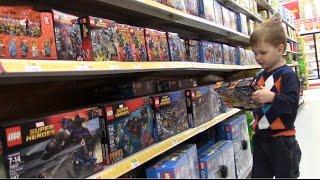 VLOG Магазин игрушек Покупаем конструктор Лего Супер Герои Children's toys shopping(, 2016-04-23T19:41:47.000Z)