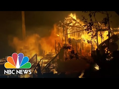 Multiple California Wildfires Prompt New Evacuations | NBC Nightly News
