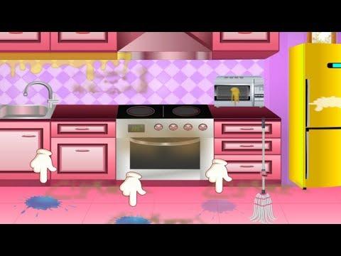 Чистота В Доме | Игры Для Детей и Мультики | Мир Детских Игр | Girls Home Cleaning