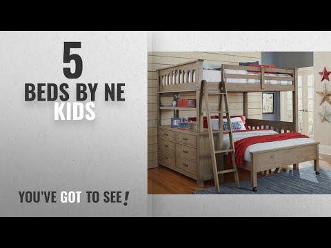 Top 10 Ne Kids Beds [2018]: NE Kids Highlands Full Loft Bed with Desk in Driftwood