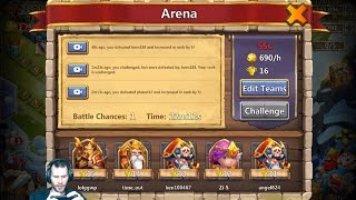 Last Run To Rank 1 Arena Need Some Luck On My Side Castle Clash