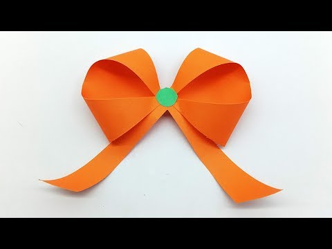Paper Bow/Ribbon - How to make origami Bow easy step by step