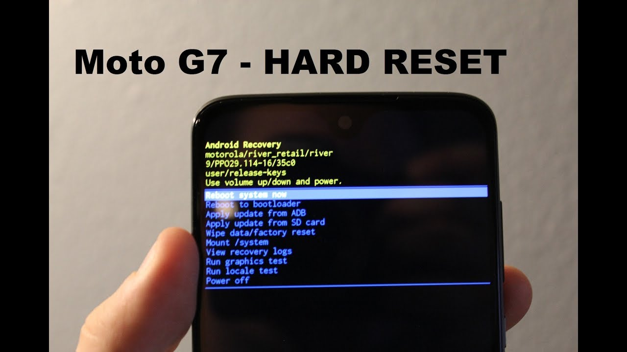 Motorola Moto G7 Hard reset, recover mode and factory reset
