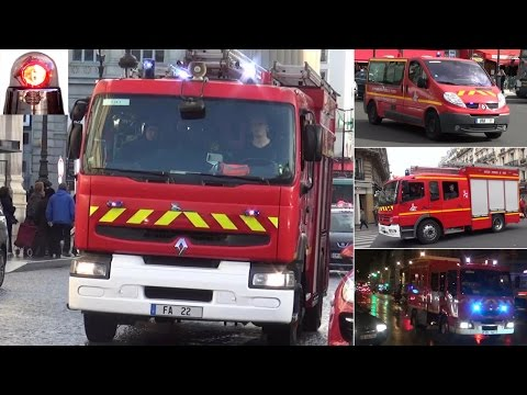 Fire Engines Responding in Paris (compilation) // BSPP