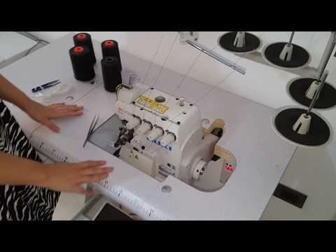 Corso di Taglio e Cucito  Cambio fili Taglia Cuci Industriale