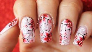 Como decorar las uñas de la mano derecha  How to paint your opposite hand nails