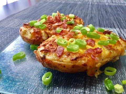 Loaded Cheesy Potatoes | Twice Baked Potato Recipe