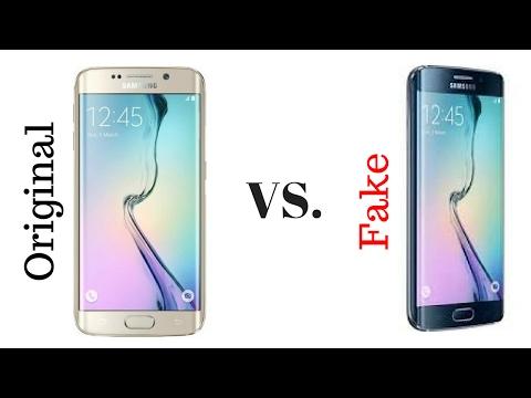 Real Samsung s6 edge vs fake s6 edge