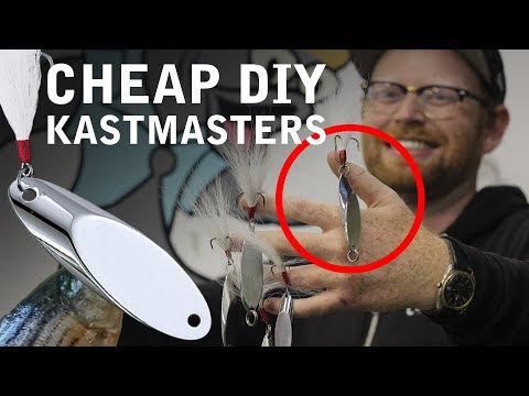 How to Build FAKE Kastmasters with Cheap Blanks DIY | Add Bucktails to ANY Hook