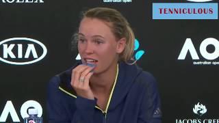 Wozniacki Australian Open Complaining Arguing Drama Net play Running Compilation