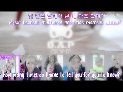 B.A.P - Stop It {Eng Sub + Romanization + Hangul}HD