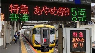 【ミュージックホーン付き】臨時特急あやめ祭り号E257系千葉発車