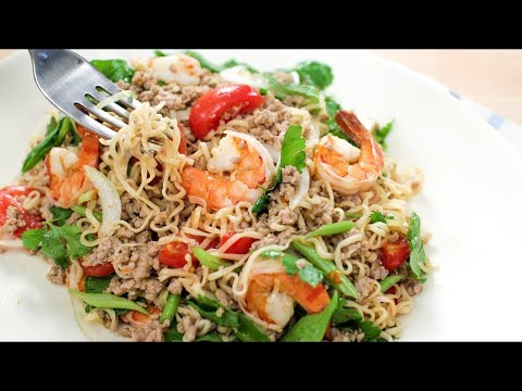 Thai Instant Noodle Salad Recipe (Yum Mama) ยำมาม่า – Hot Thai Kitchen