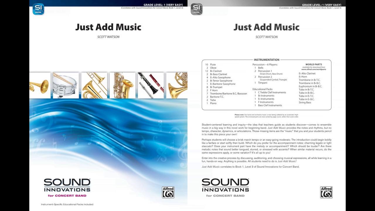 Just Add Music By Scott Watson Score Sound Youtube