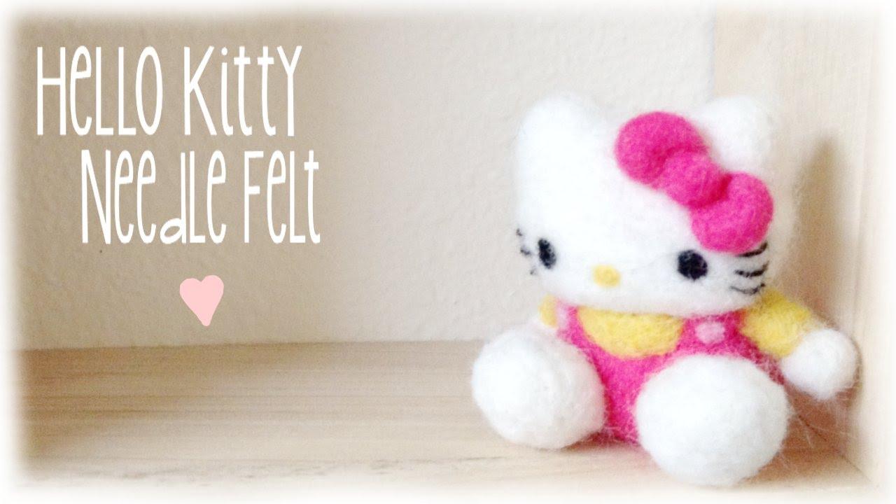 a90975f9b DIY Hello Kitty Needle Felt Plush / Plushie - YouTube