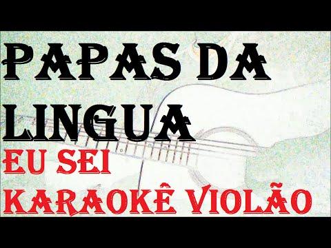 PAPAS DA LINGUA -EU SEI ( KARAOKE violão)