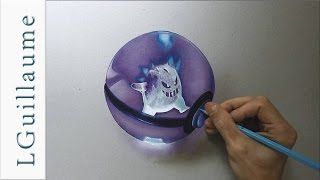 drawing realistic pokeball ectoplasma