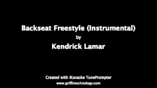 Happy Birthday! Kendrick Lamar - Backseat Freestyle - Karaoke