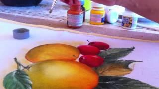 Pintura em tecido- como pintar laranjas