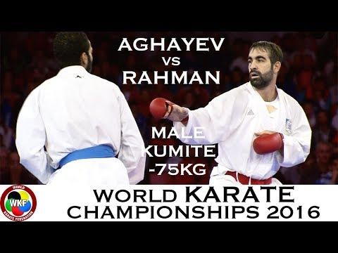 FINAL. Male Kumite -75kg. AGHAYEV (AZE) Vs RAHMAN (EGY). 2016 World Karate Championships