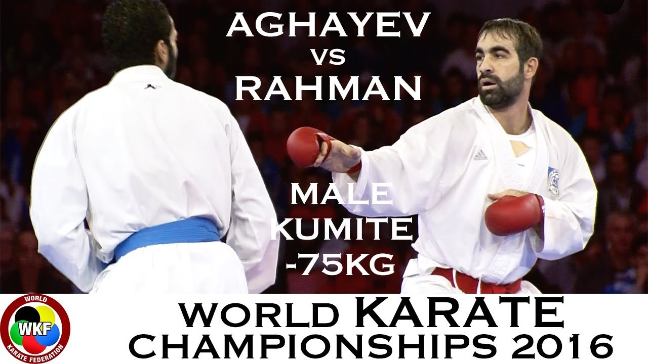 FINAL. Male Kumite -75kg. AGHAYEV (AZE) vs RAHMAN (EGY). 2016 World Karate Championships