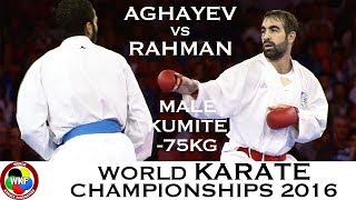Download Video FINAL. Male Kumite -75kg. AGHAYEV (AZE) vs RAHMAN (EGY). 2016 World Karate Championships MP3 3GP MP4