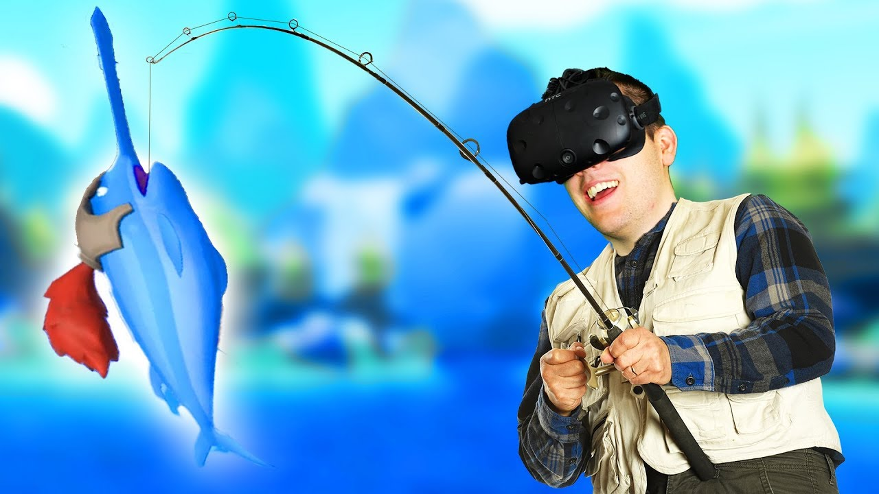 Hilarious virtual reality fishing crazy fishing for Virtual reality fishing