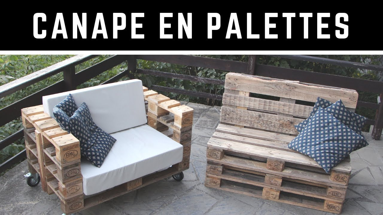 comment fabriquer un canap en palette avec un dossier. Black Bedroom Furniture Sets. Home Design Ideas