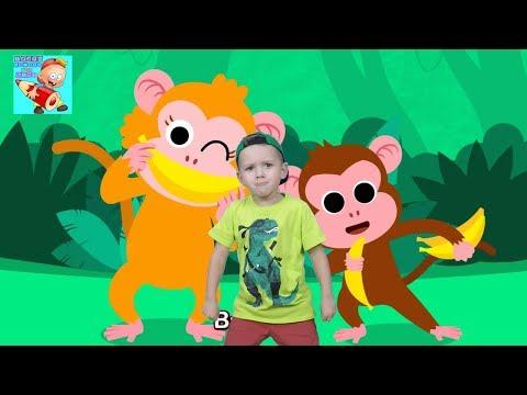 Monkey Bananas  Animal Songs  Songs for Kids