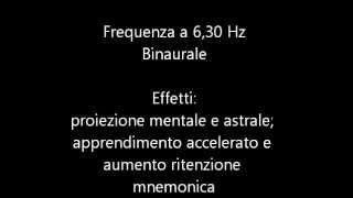 6,30 Hz binaurale - Aiuto studio e memorizzazione