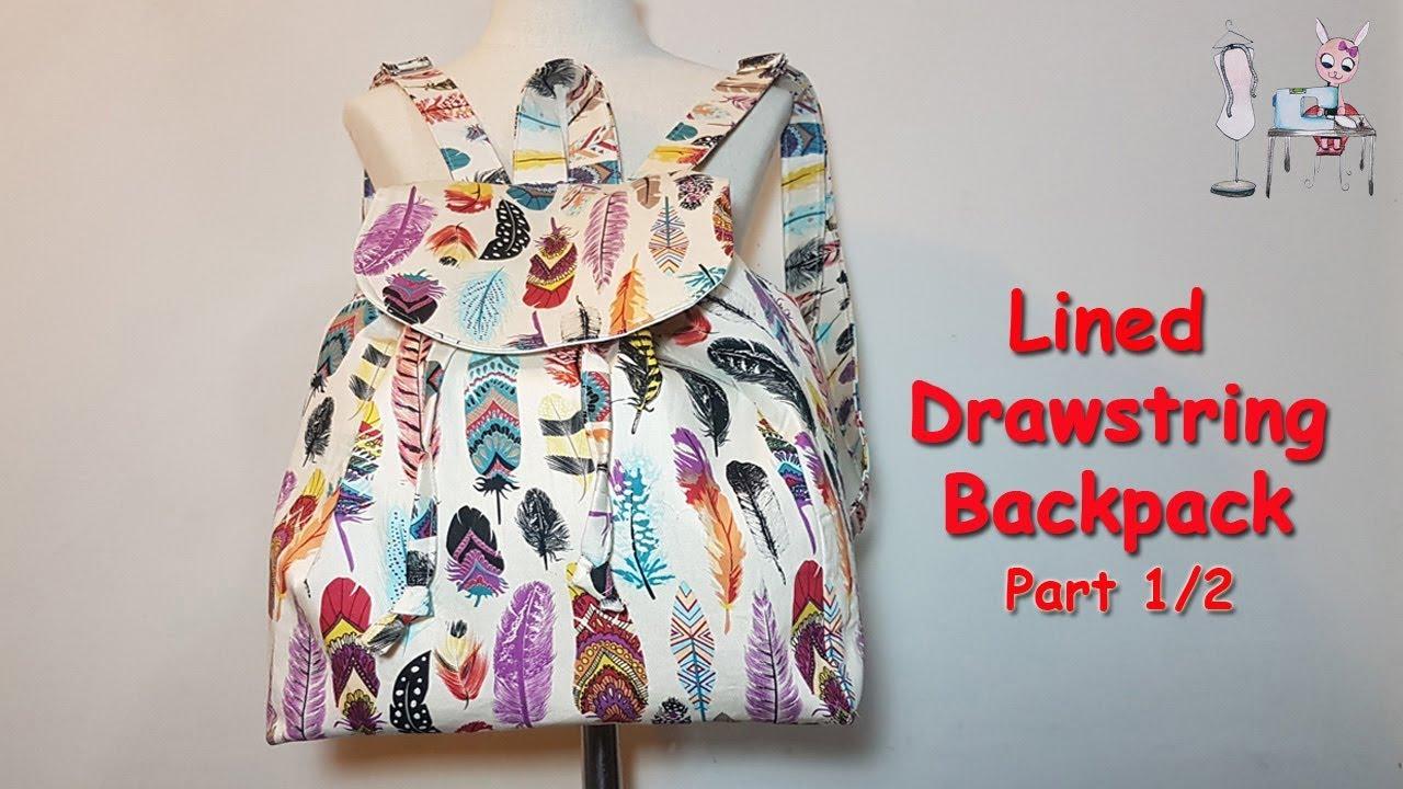 Diy Backpack Part 1 2 Diy Bag Bag Sewing Tutorial Coudre Un Sac