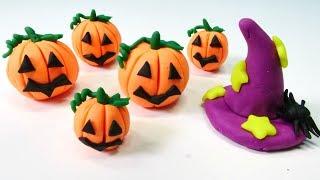 Play-Doh hamur oyunları. Halloween bal kabağı yapalım