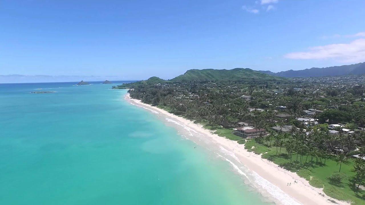 kailua beach aerial view youtube