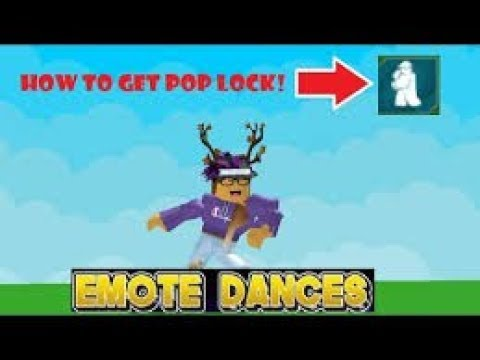 How To Get Poplock Roblox Emote Dances Youtube