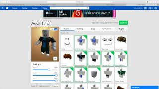 How to create an avatar at ROBLOX