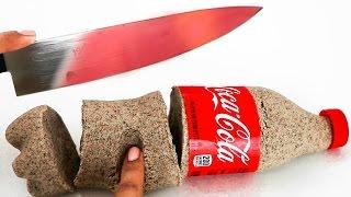 EXPERIMENT Glowing 1000 degree KNIFE VS VIRAL DIYS! Super Satisfying! NataliesOutlet